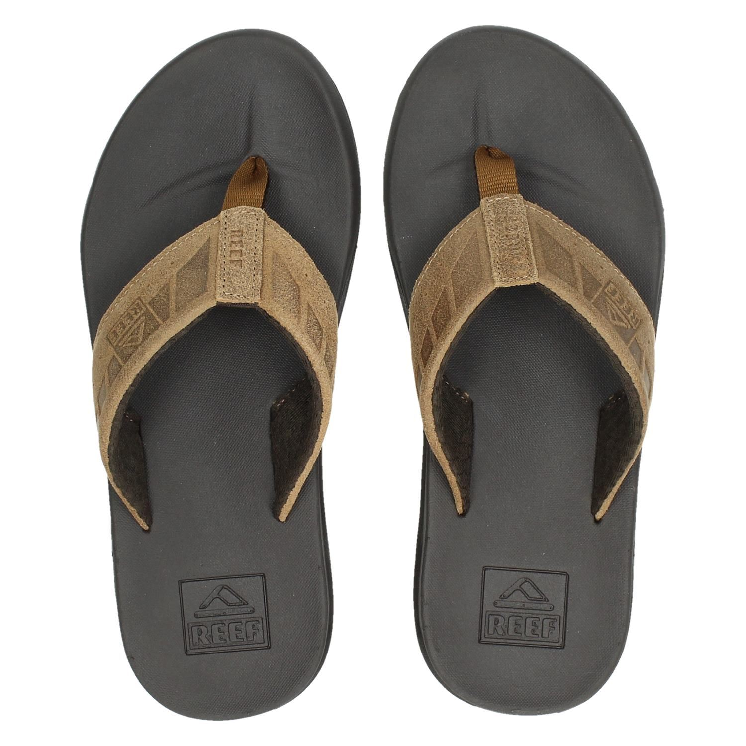 Reef Chill Leather Teenslippers Dames | Bever