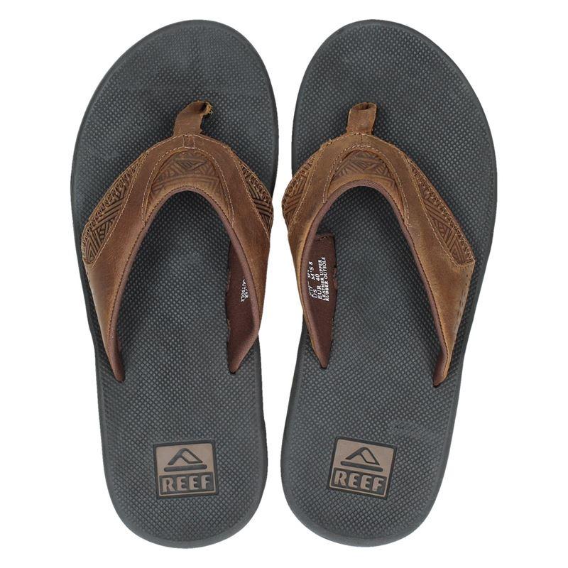 Fanning Shoemixx nl Leather Slippers Bruin Reef OkXTwZlPiu