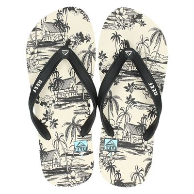 Reef heren slippers wit