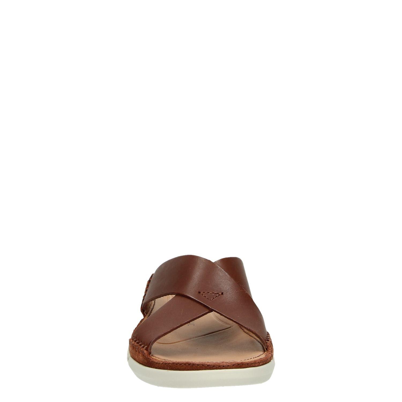 Cognac Trisand Cross Slippers Heren Clarks 34Rjqc5AL