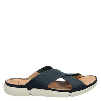 Clarks heren slippers blauw