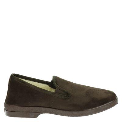 Cruan heren pantoffels bruin