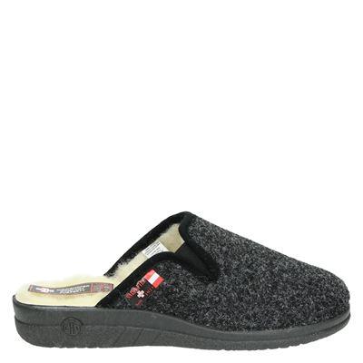 Nadelfilz heren pantoffels grijs