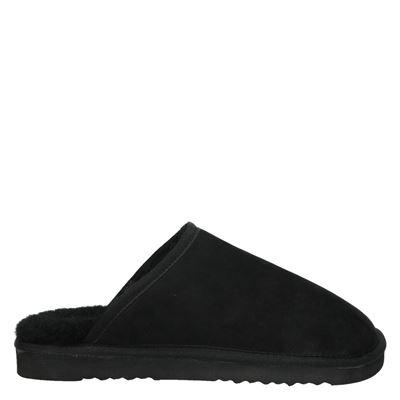 Nelson heren pantoffels zwart