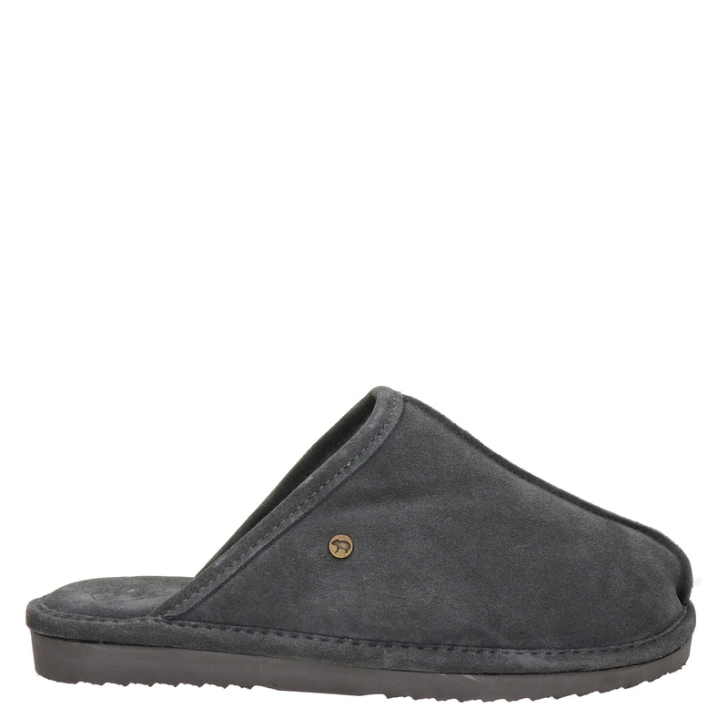 Warmbat Australia Barron suède pantoffels grijs online kopen