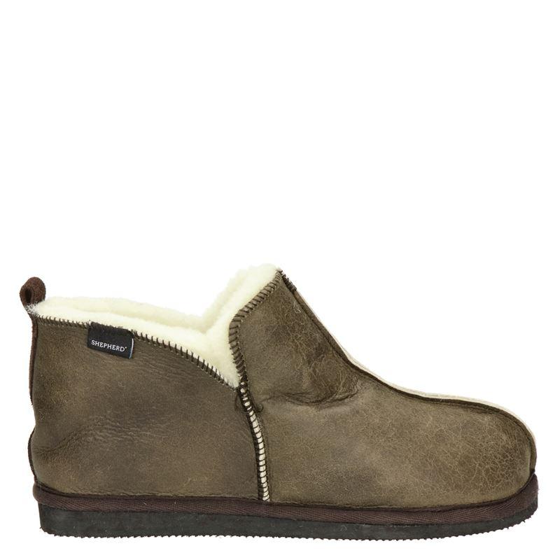 Shepherd Anton pantoffels bruin online kopen