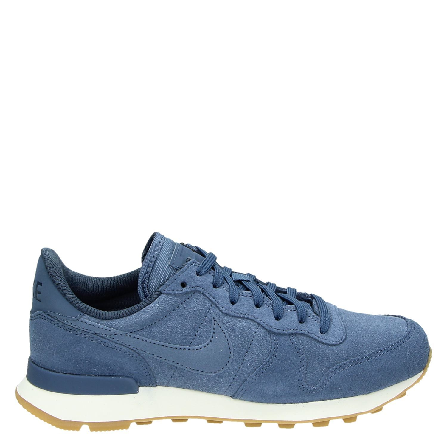 Nike Internationalis dames lage sneakers blauw