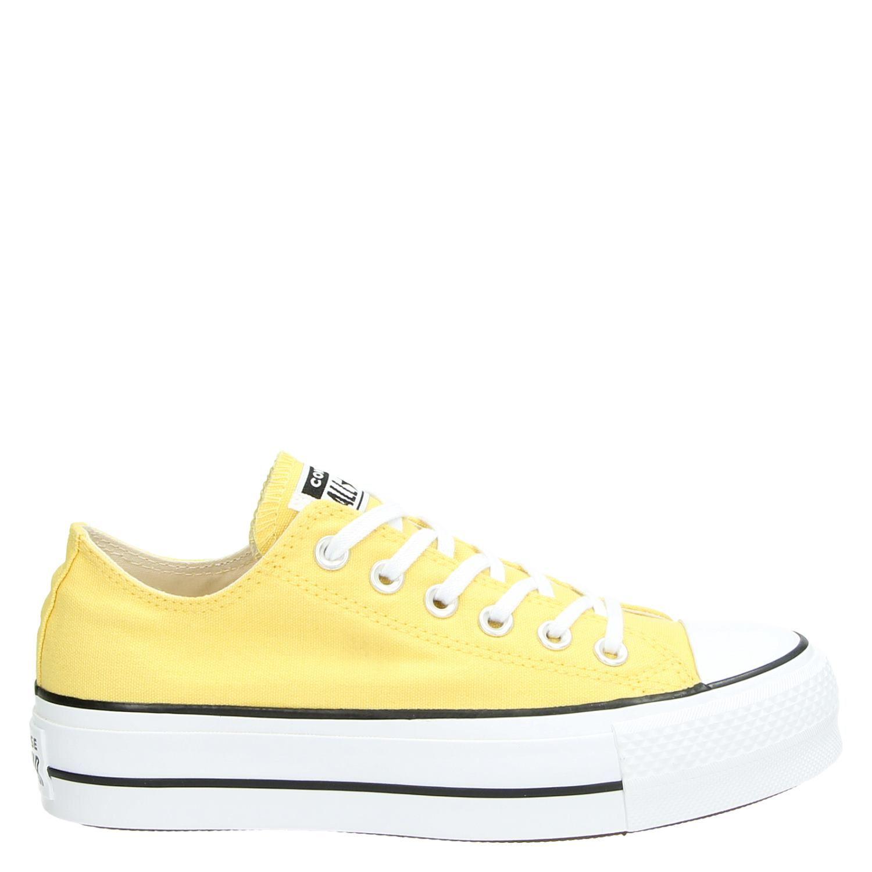 dcf9afd8a30 Converse Chuck Taylor All Star Lift dames platform sneakers geel