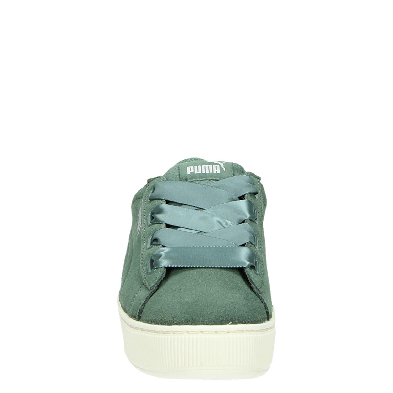 ca854bbe737 Puma Vikky Platform Ribbon dames lage sneakers groen