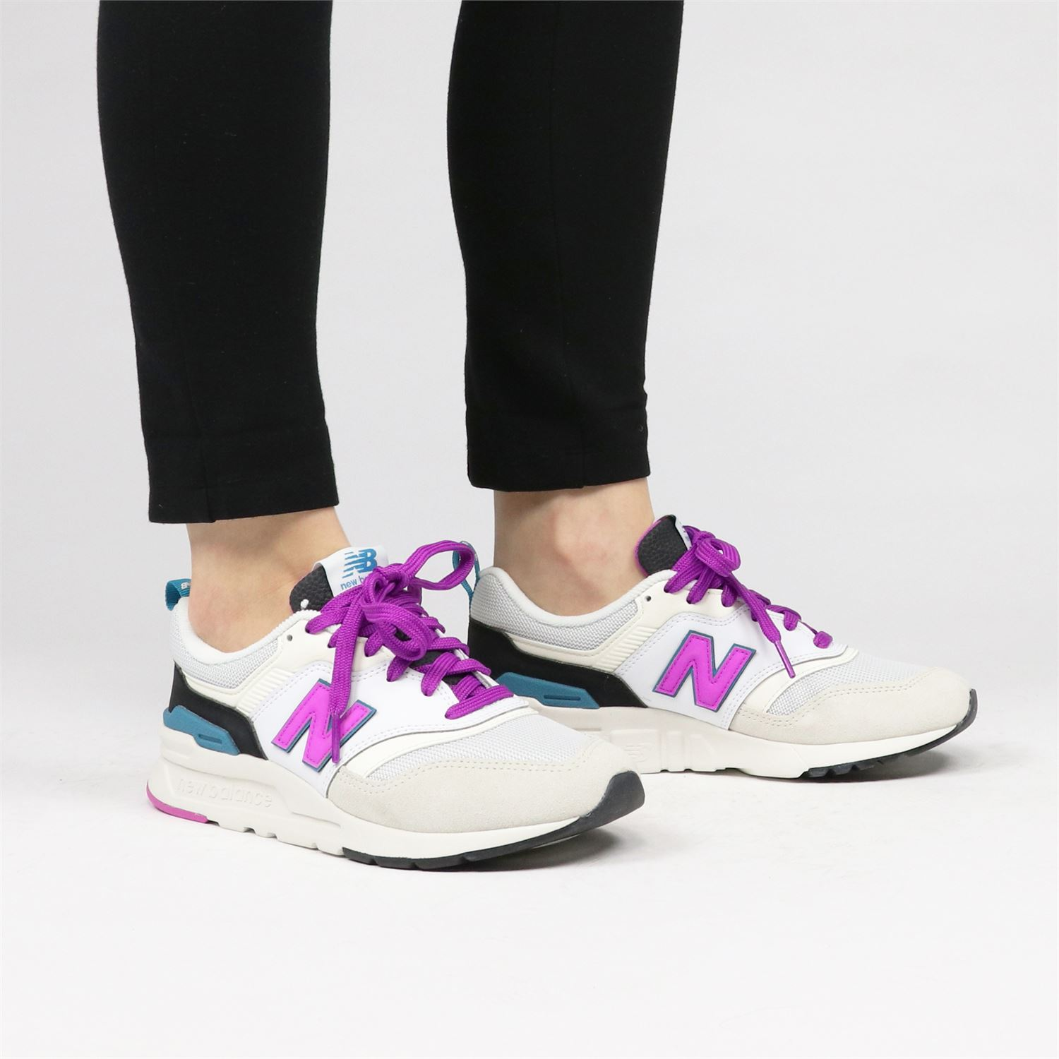 New Balance CW997HNA dames lage sneakers wit