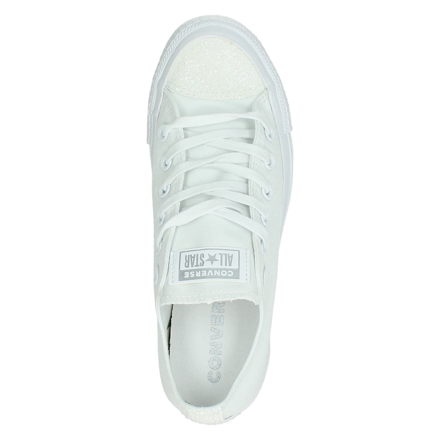 Converse C AS Ox glitter - Lage sneakers voor dames - Wit pLRfY2a