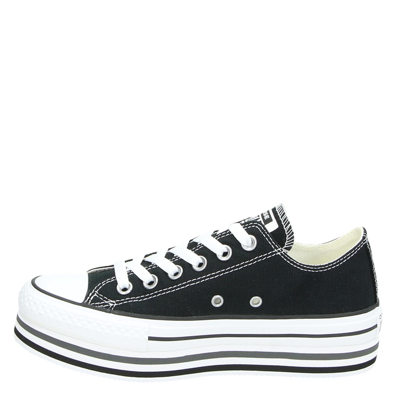 0b7df6ae5e6 Converse Platform dames platform sneakers zwart