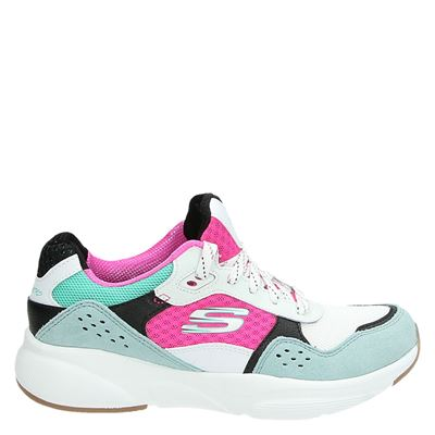 Skechers dames lage sneakers wit