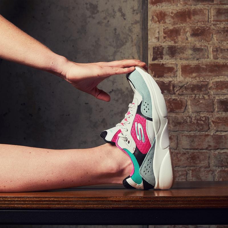 Skechers Meridian Charted - Lage sneakers - Wit
