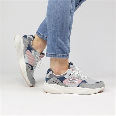 Skechers dames sneakers licht grijs