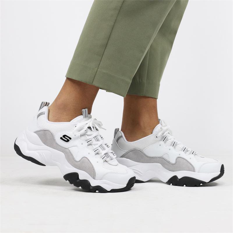 Skechers D Lite 3.0 - Dad Sneakers - Wit