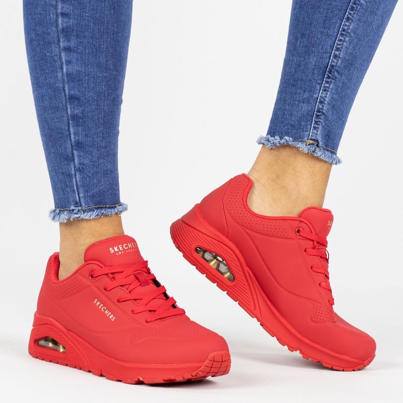 Skechers Street Uno - Lage sneakers - Rood