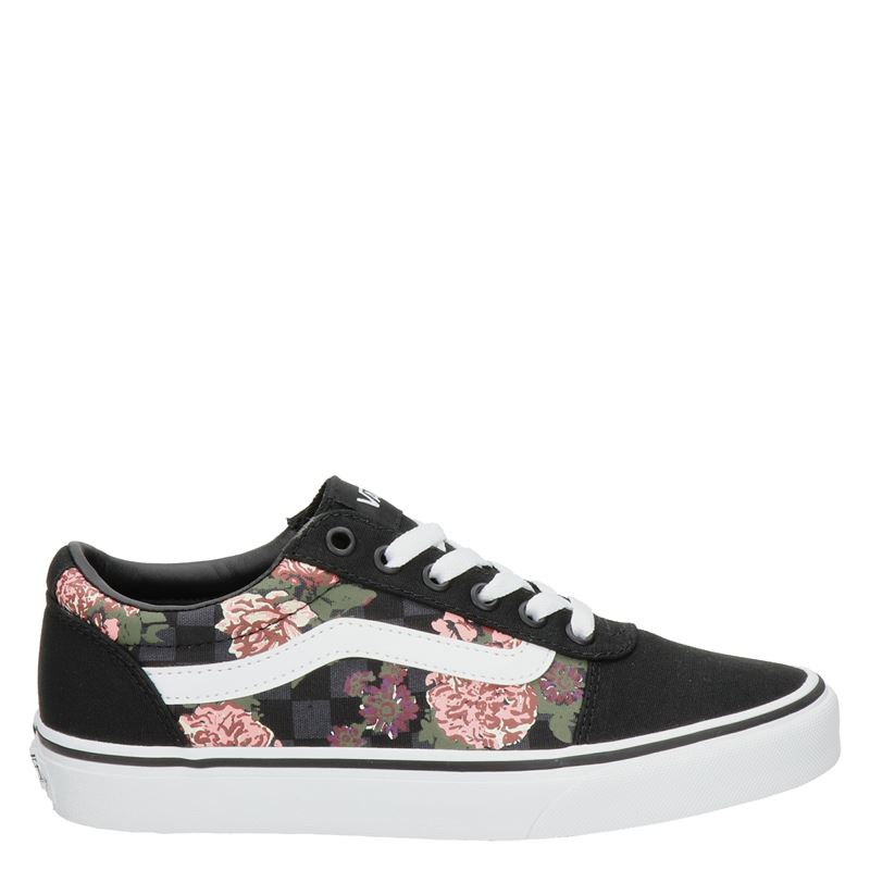 Vans Ward Flowers and Checks - Lage sneakers - Zwart