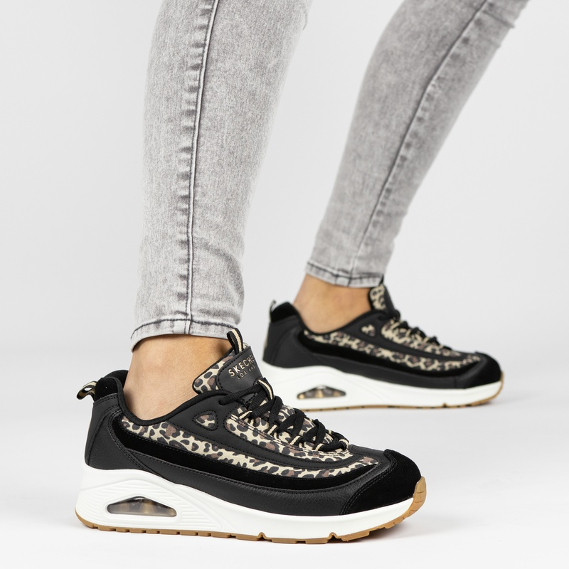 Skechers Uno Wild Streets - Lage sneakers - Zwart
