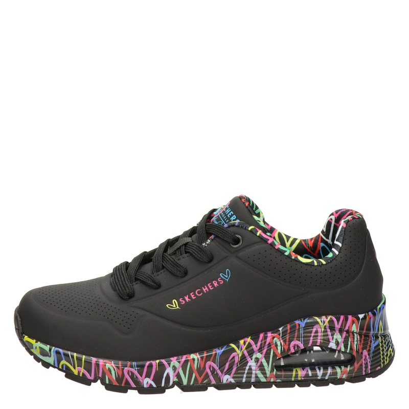 Skechers Uno Loving Love - Lage sneakers - Zwart