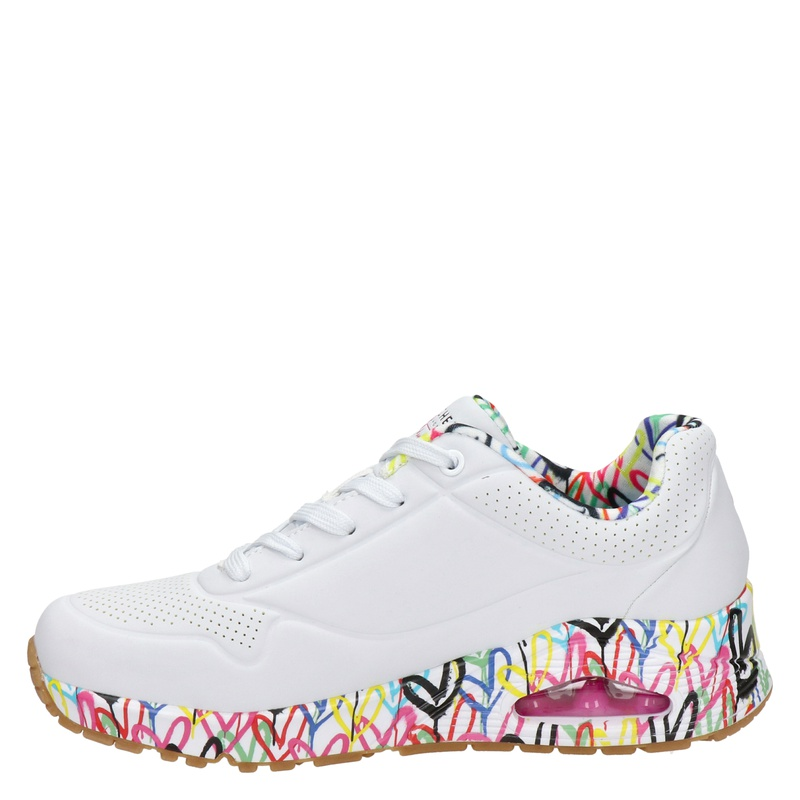 Skechers Uno Loving Me - Lage sneakers - Wit
