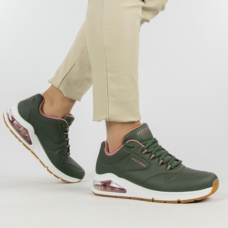 Skechers Uno 2 - Lage sneakers - Groen