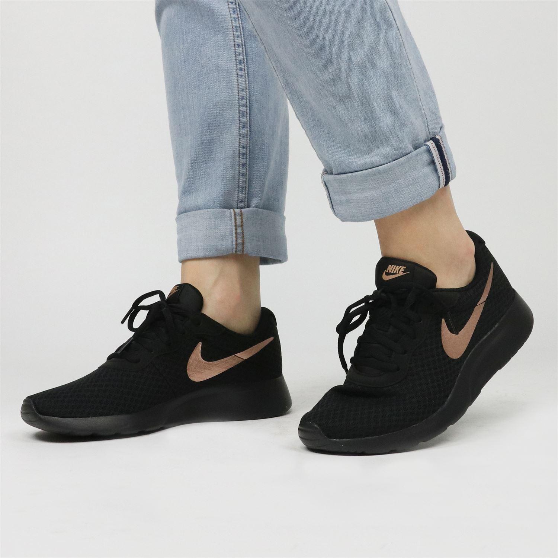 nike tanjun sneakers zwart dames