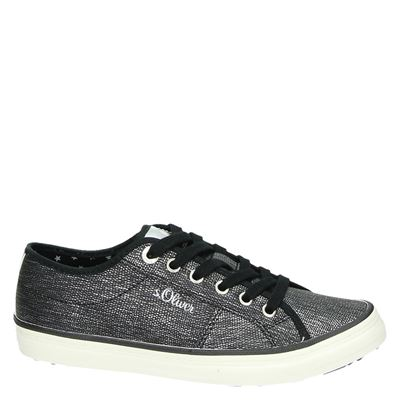 S.Oliver dames lage sneakers Zwart