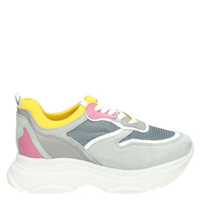 PS Poelman dames sneakers grijs