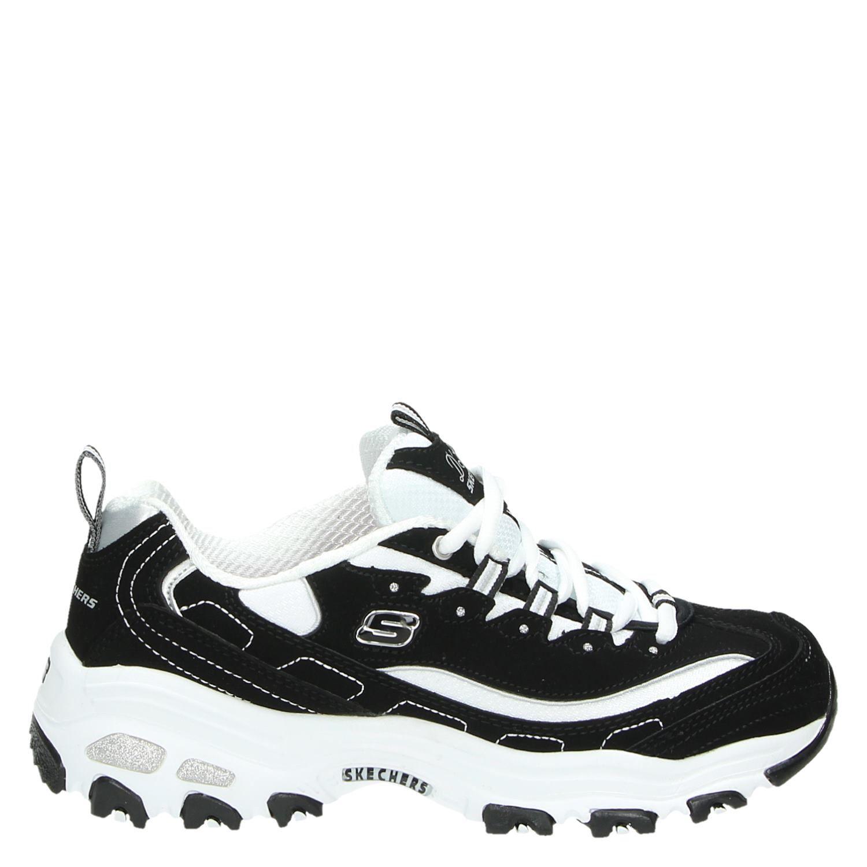 Skechers D'Lites dames dad sneakers zwart