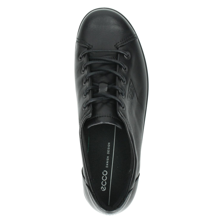 Ecco Soft 2.0 - Veterschoenen voor dames - Zwart PXDuPly