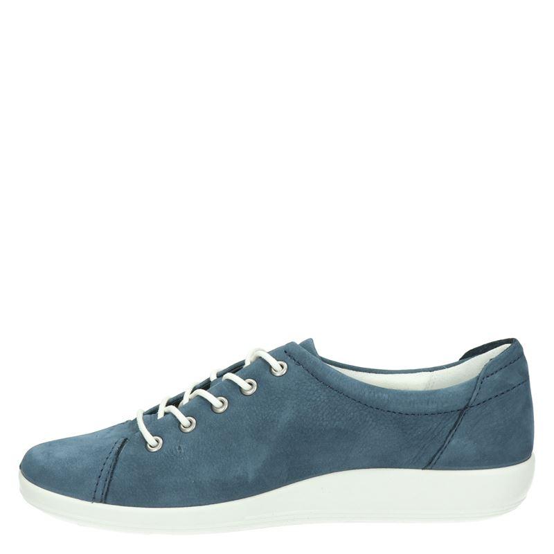 Ecco Soft 2.0 - Veterschoenen - Blauw