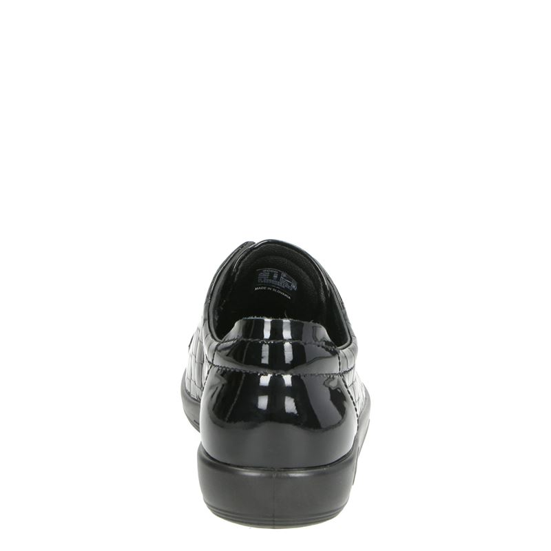 Ecco Soft 2.0 - Veterschoenen - Zwart