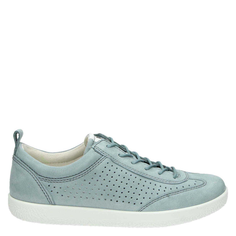 Ecco Doux Un Faible Chaussures De Sport Bleu 5m7yNjjt