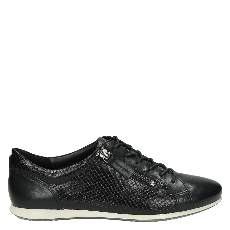 2b10c74690 Ecco Touch Sneaker dames veterschoenen zwart