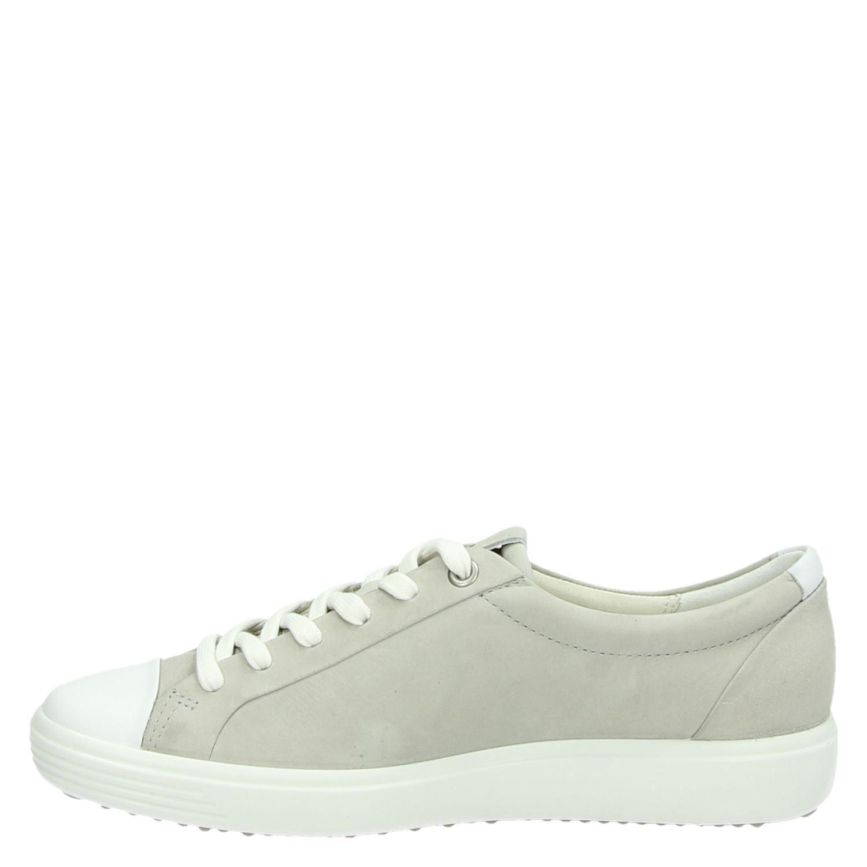 Ecco Soft 7 nubuck sneakers kaki Schoenen sneakers