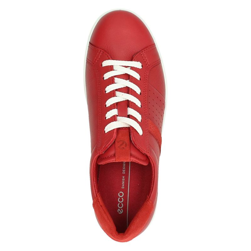 Ecco Soft 1 - Lage sneakers - Rood