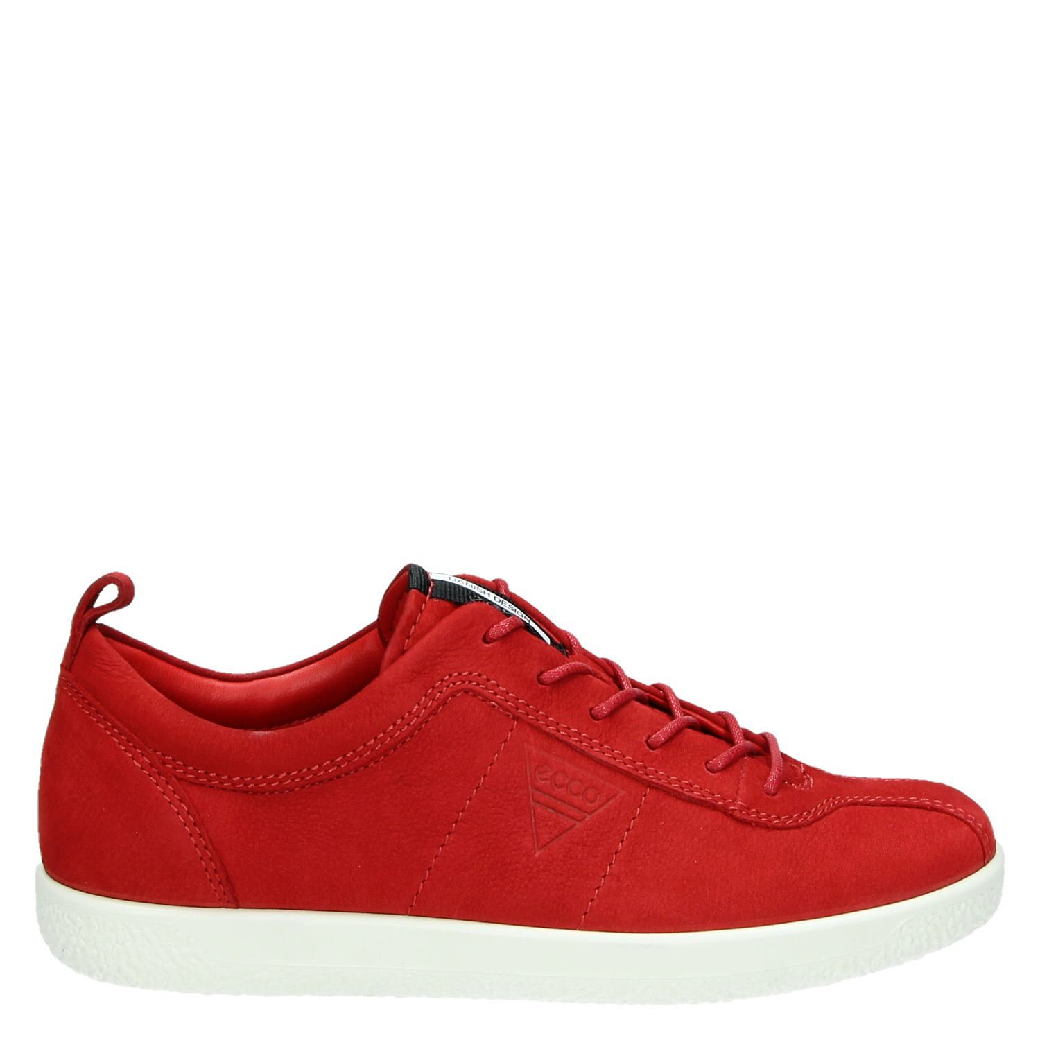 Ecco Soft Dames Sneakers Lage 1 Rood CdxtsQrh