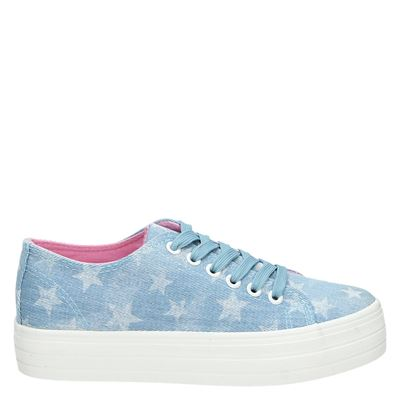 PS Poelman dames sneakers blauw