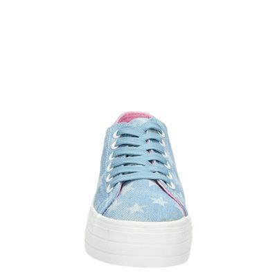 PS Poelman dames platform sneakers Blauw