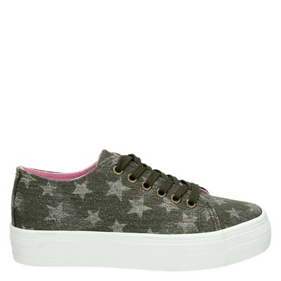PS Poelman dames sneakers groen