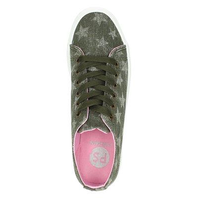PS Poelman dames platform sneakers Groen