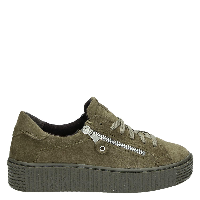 Chaussures Vert Avec Fermeture À Glissière Pour Les Femmes 27kMO
