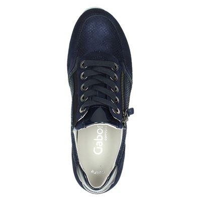 Gabor dames lage sneakers Blauw