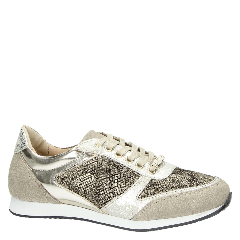 3c7cf2ae9df Supertrash dames lage sneakers goud