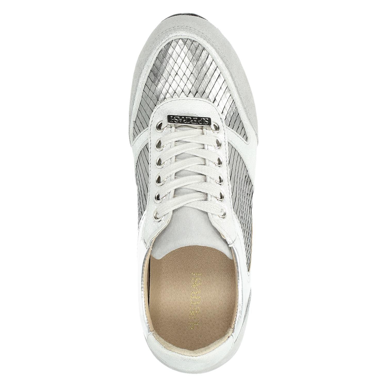 4e6e92afdcd Supertrash dames lage sneakers zilver