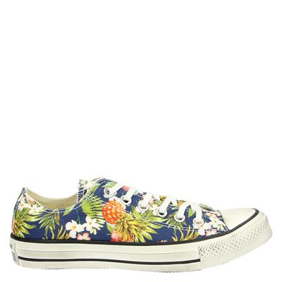 Converse dames lage sneakers blauw