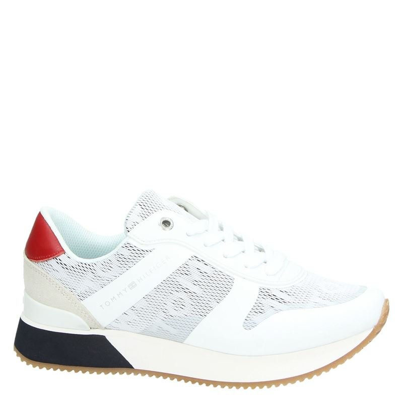 Tommy Hilfiger Sport Jacquard City - Lage sneakers - Wit