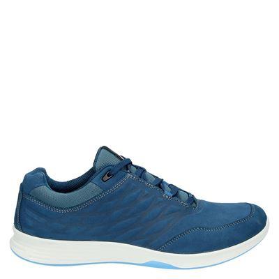 Ecco dames veterschoenen blauw