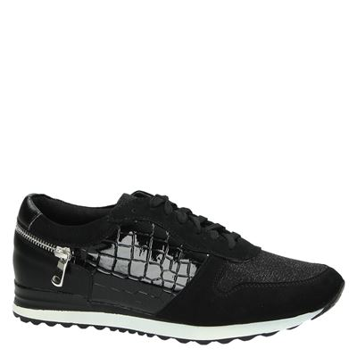 PS Poelman dames lage sneakers Zwart